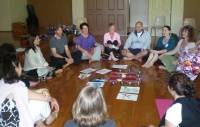 Discussion time at Kabbalah Meditation Retreat