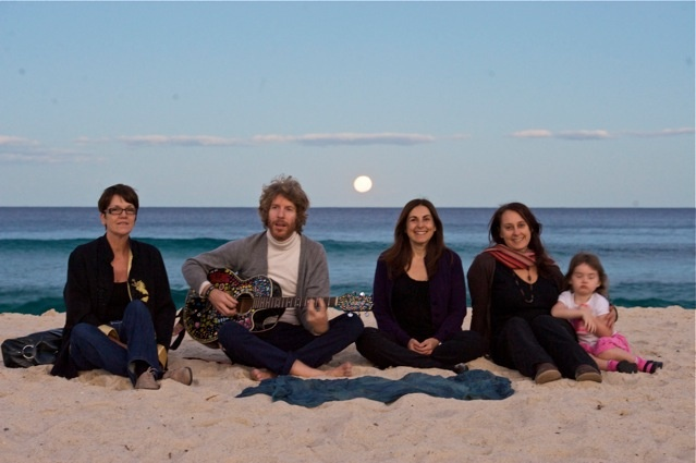 Kabbalah Music Circle on the beach