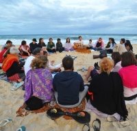 Kabbalah chanting at the beach