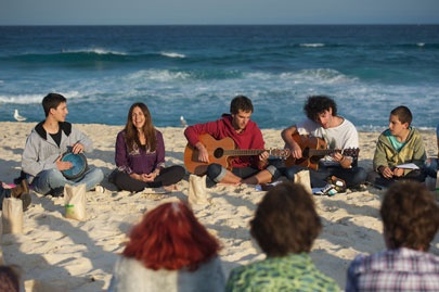 Orna Triguboff leading Kabbalah Music Circle